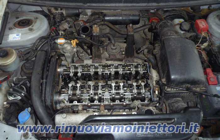 Injector removal from Kia